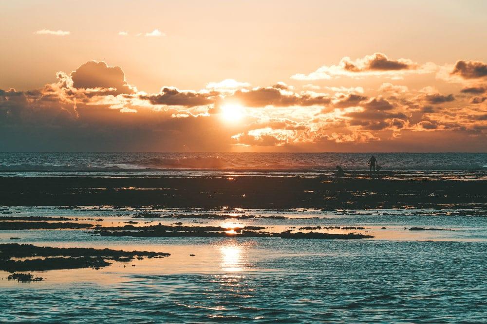matin et soir baignade interdite plage St Pierre Réunion