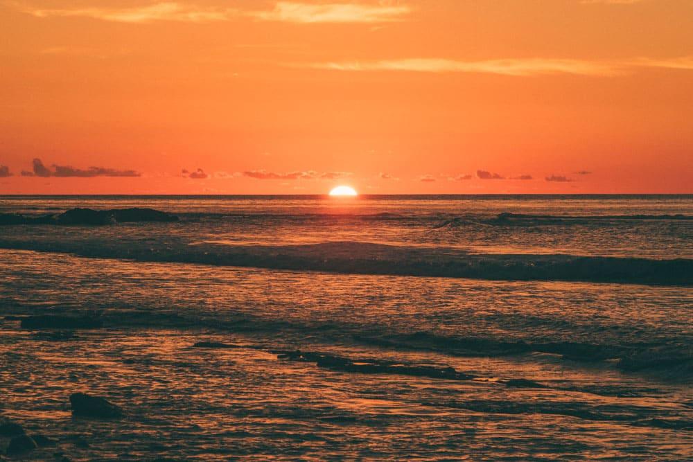 où faire le plus beau coucher de soleil plage La Réunion
