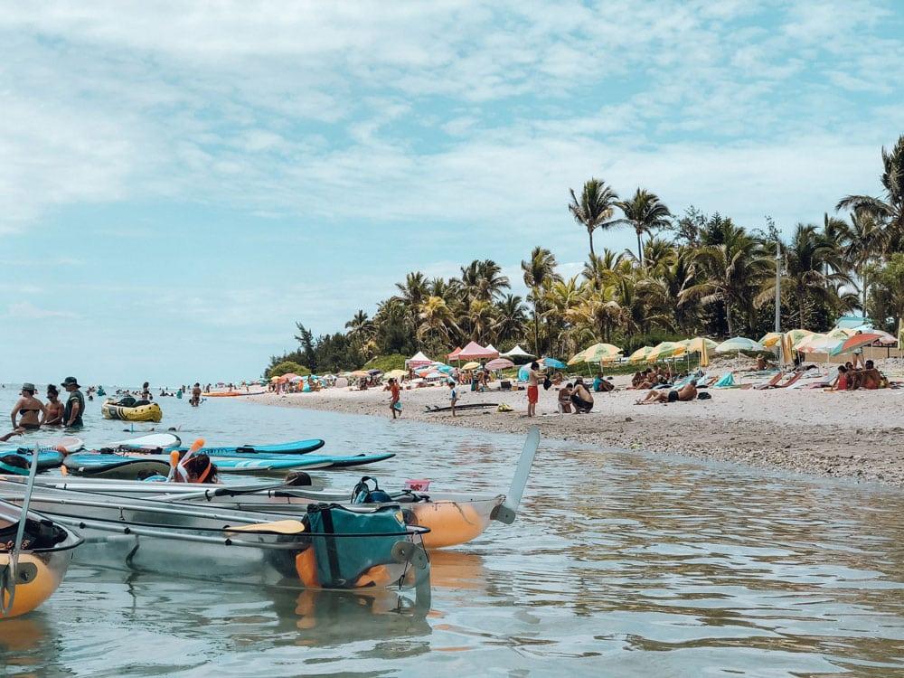 plages surveillées île La Réunion se baigner en famille