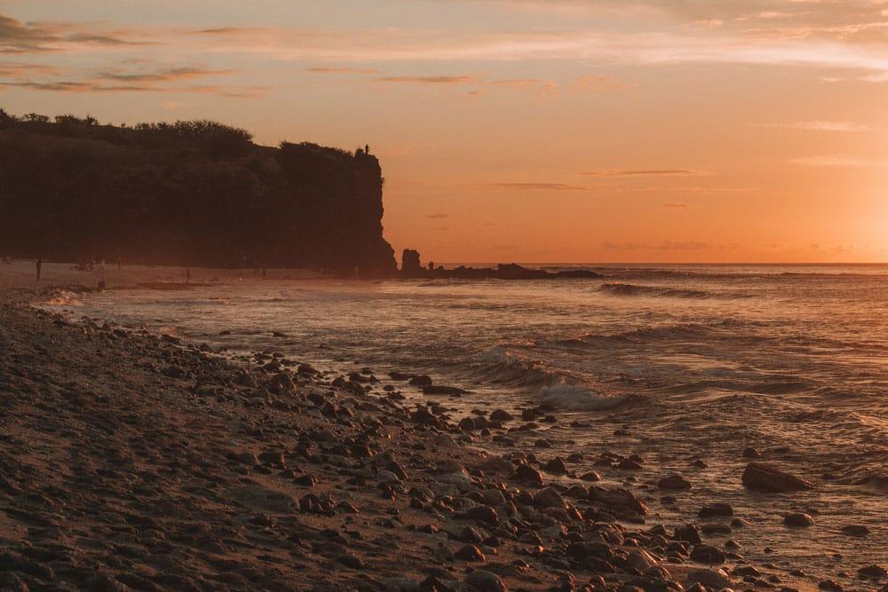 quelle plage pour coucher de soleil Réunion