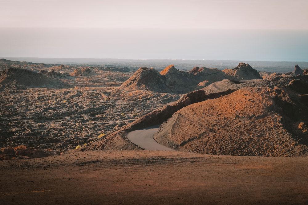 route des volcans montagnes de feu Lanzarote