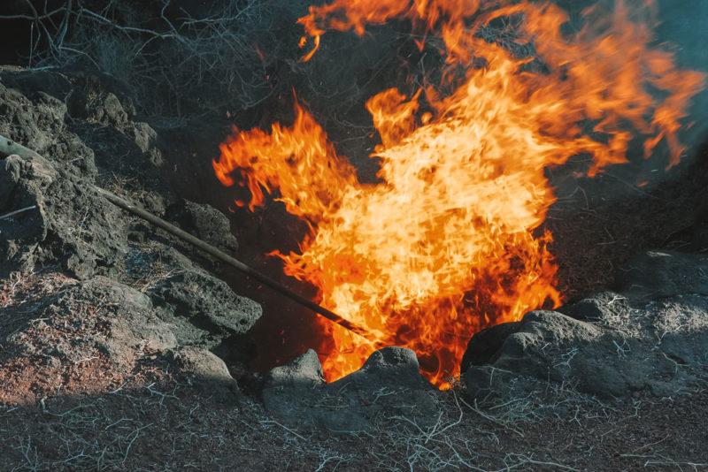 voir un volcan actif Lanzarote parc Timanfaya