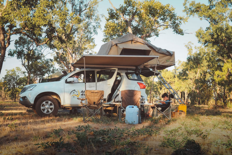 4x4 tente de toit camping Australie