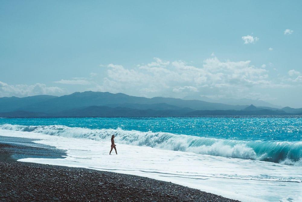baignade plage côte ouest Haute Corse