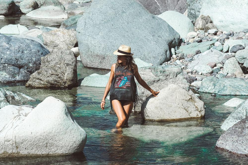 bain dans rivière Asco Haute Corse