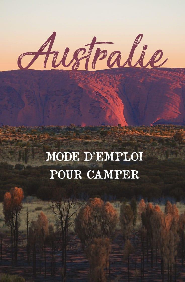 camping Australie mode d'emploi