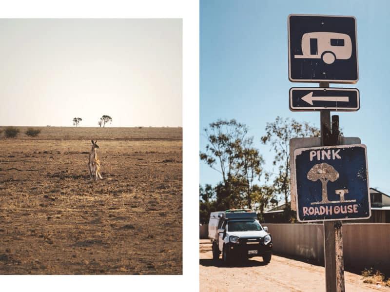 où dormir en road trip 4x4 en Australie pink roadhouse