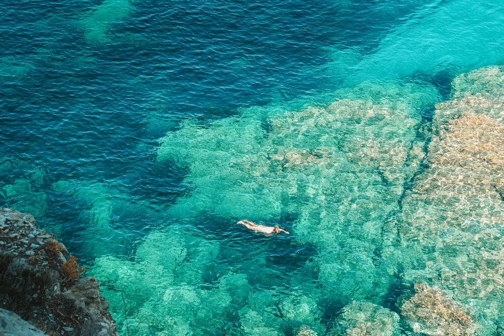 où se baigner sentier des douaniers Cap Corse