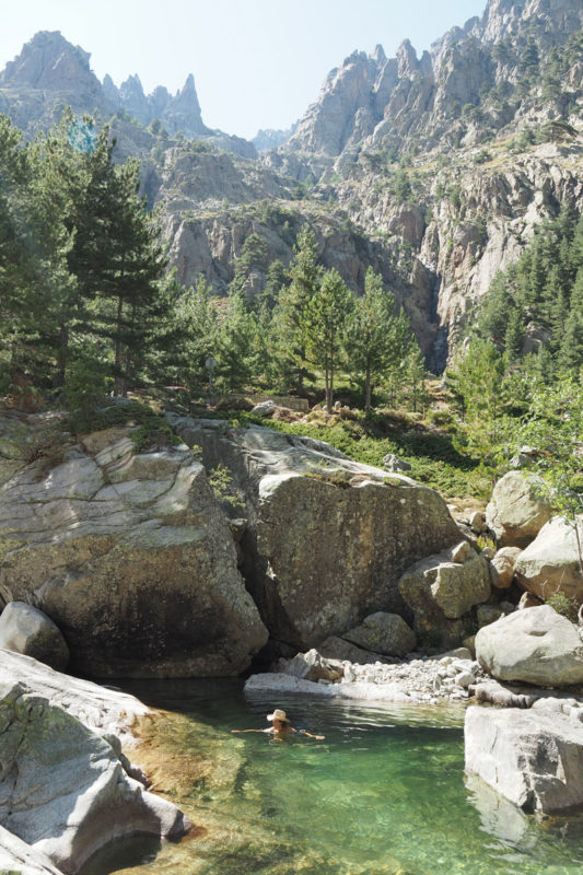 se baigner Restonica piscines naturelles Haute Corse