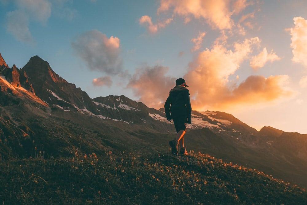 où voir le plus beau coucher de soleil Vanoise La Plagne