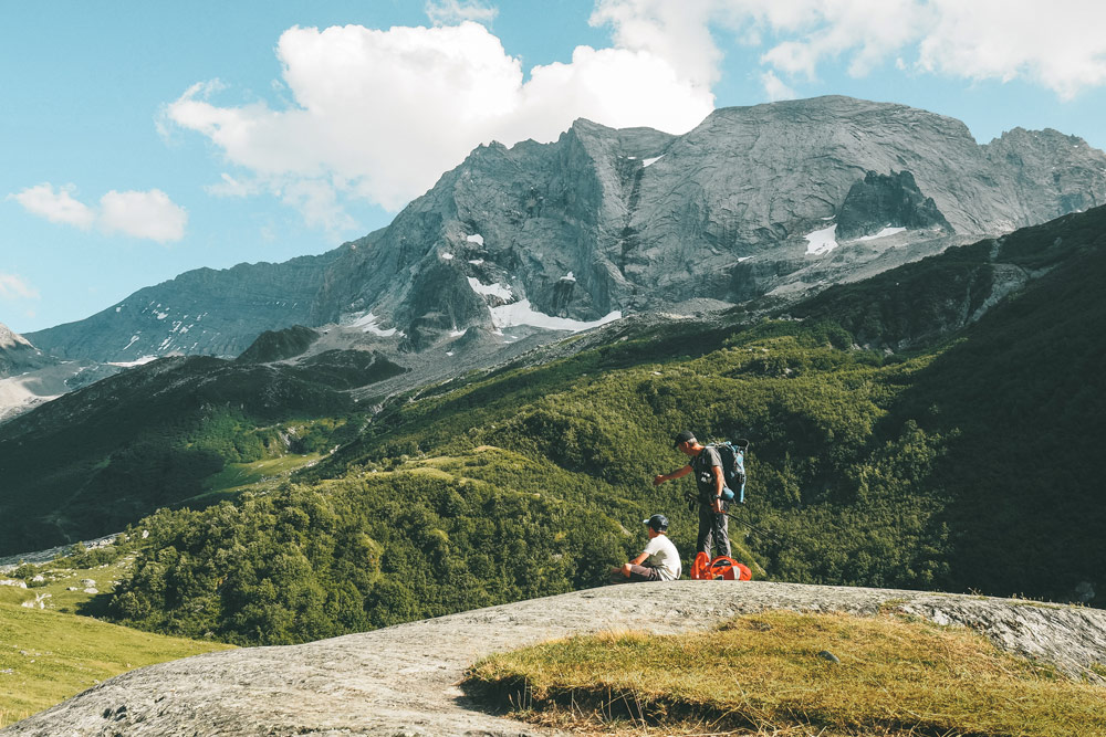 randonner avec un guide montagne La Plagne Champagny