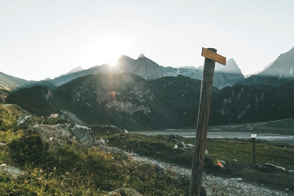 sentier randonnée glaciers parc national Vanoise