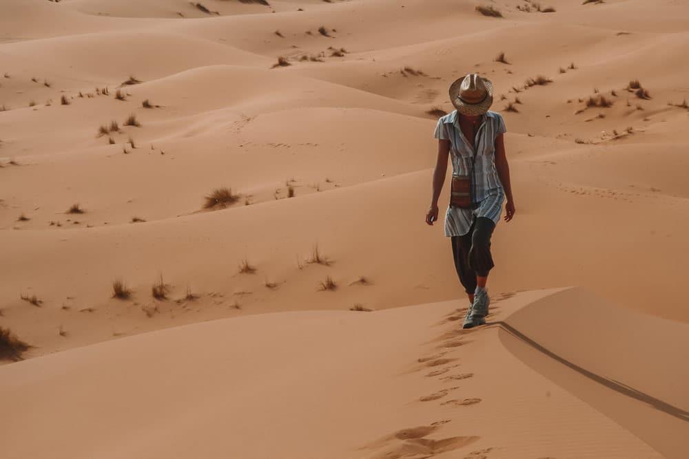 quel est le meilleur itinéraire au Maroc désert de Merzouga