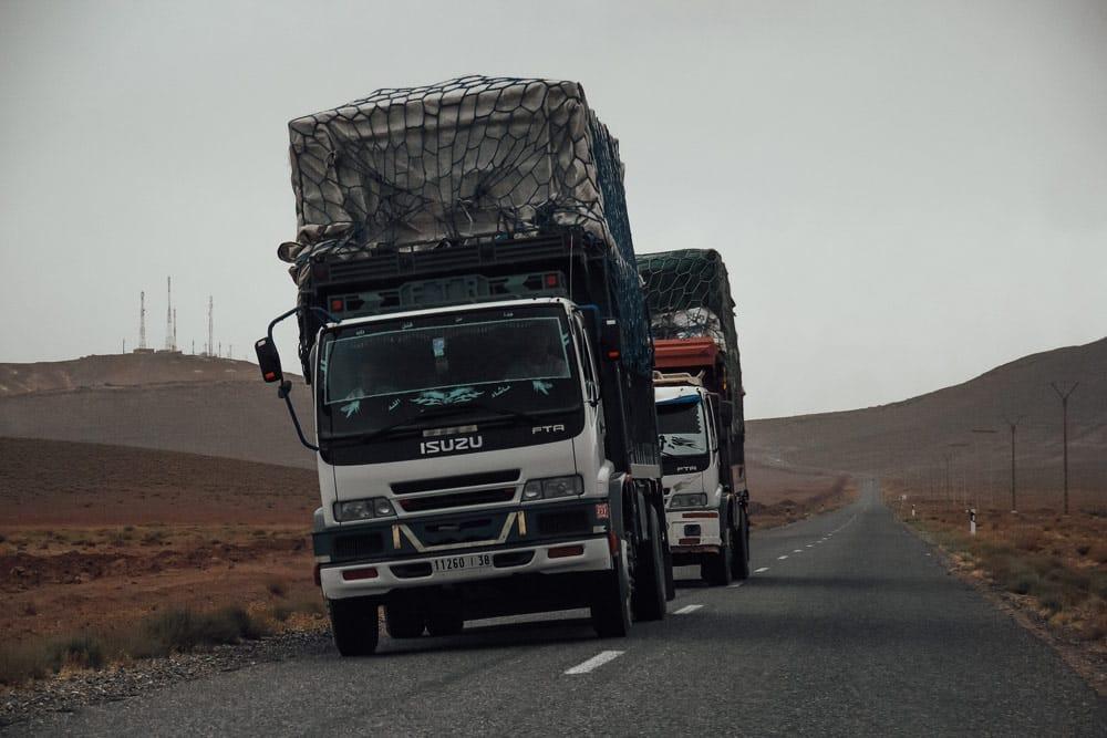 risques voyager au Maroc sur la route
