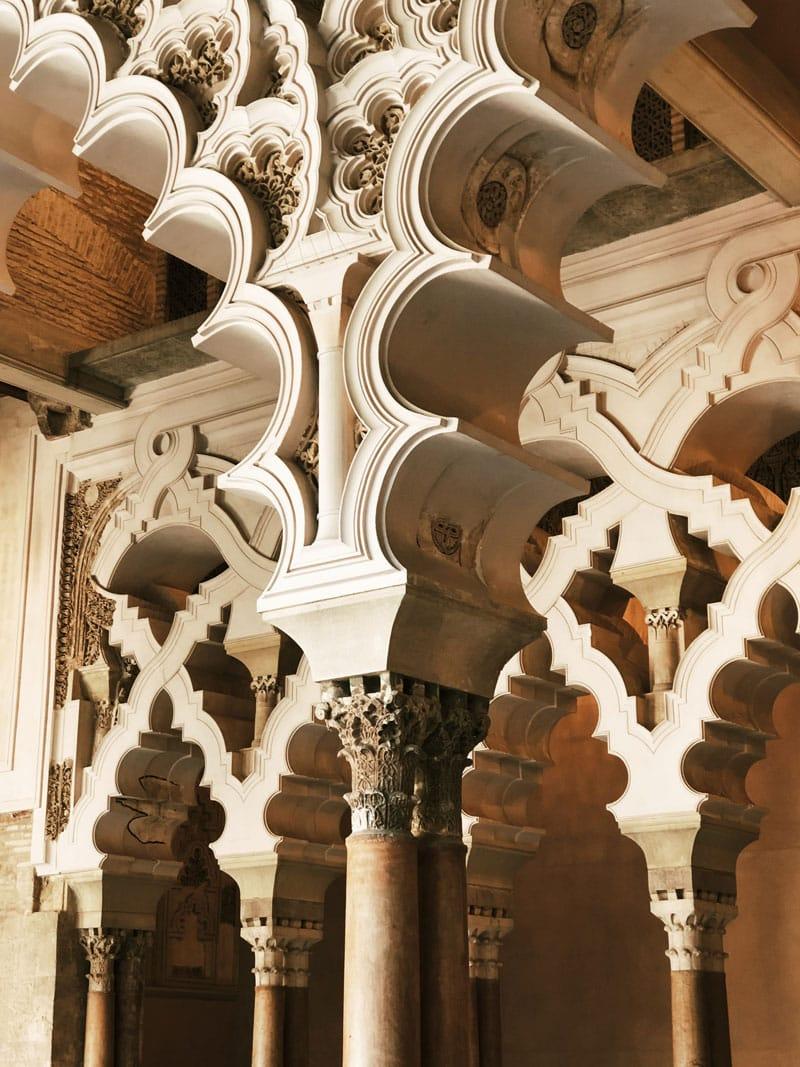 décor mudéjar palais Saragosse