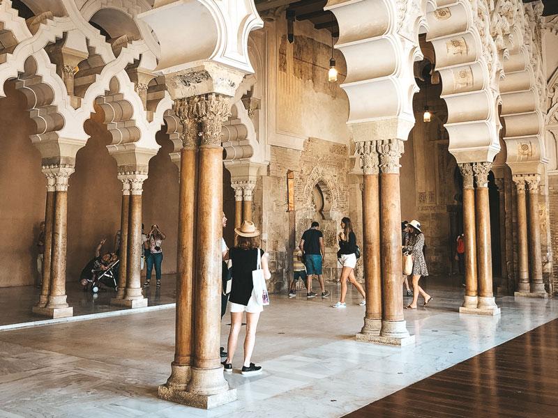 lieux touristiques à voir Saragosse palais Aljaferia