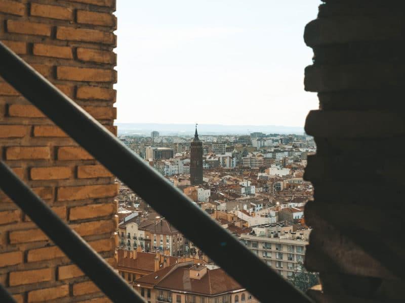 où avoir la vue sur Saragosse ascensor des Pilar