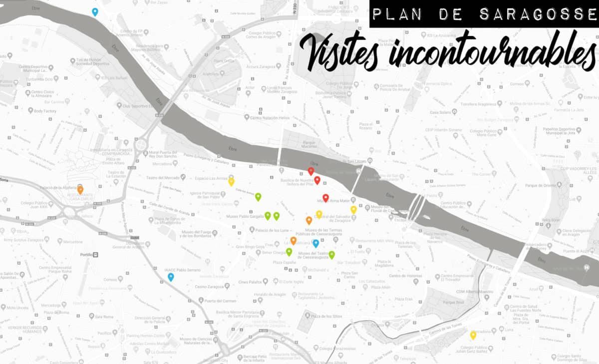 plan de Saragosse visites incontournables