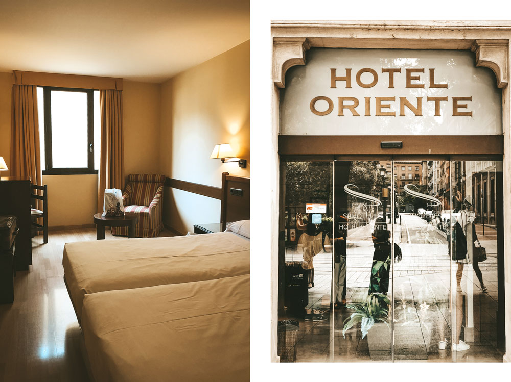 quel hôtel à Saragosse en centre ville Oriente