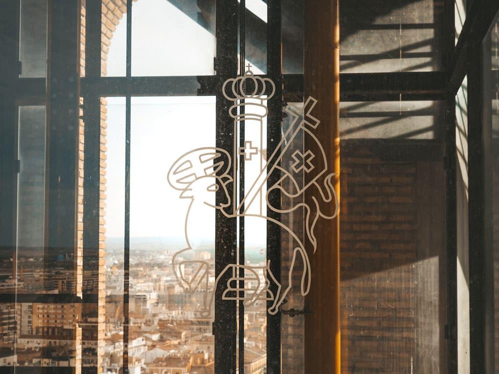 visite ascenseur de la basilique Notre Dame du Pilar
