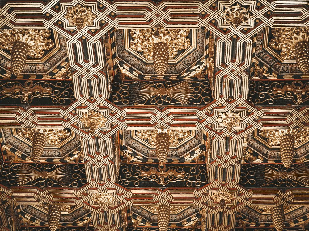 visiter intérieur palais mudejar plafonds bois or Saragosse