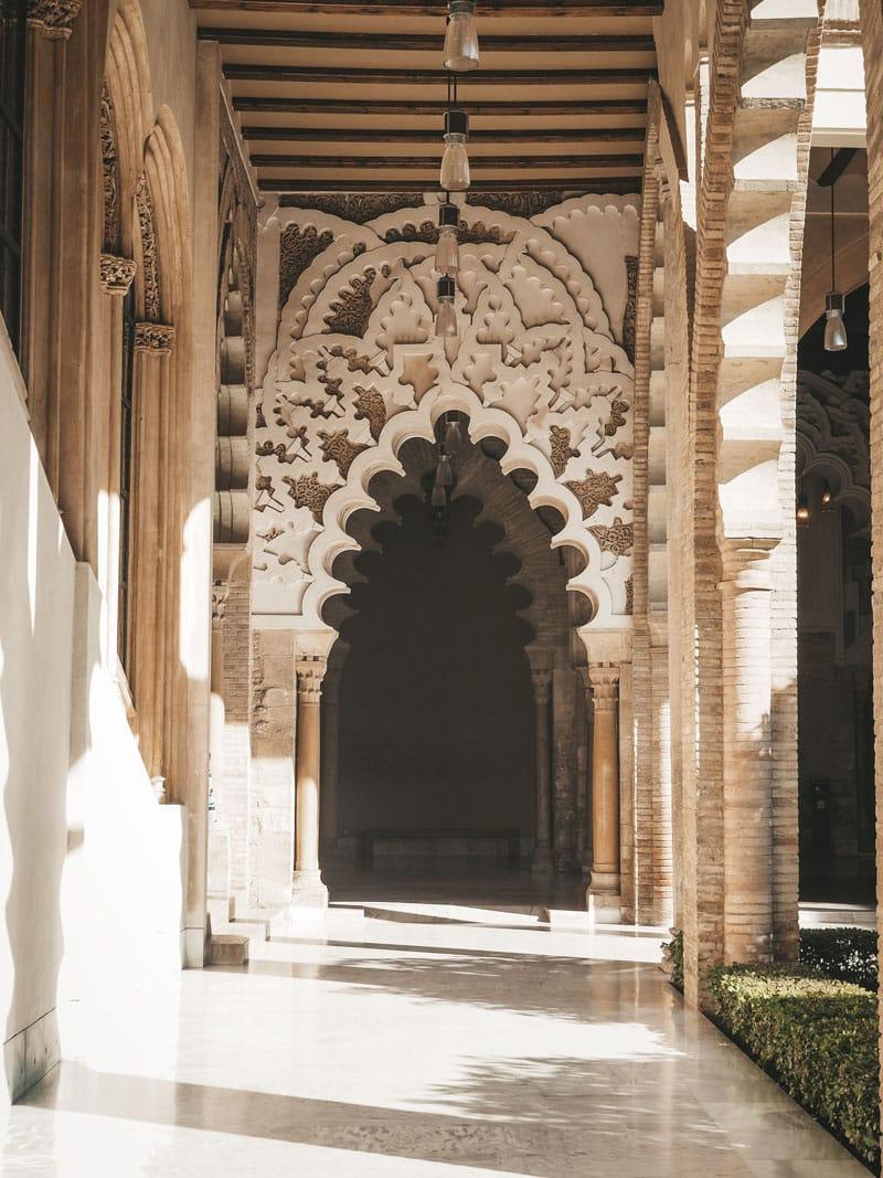 visiter jardins palais Saragosse