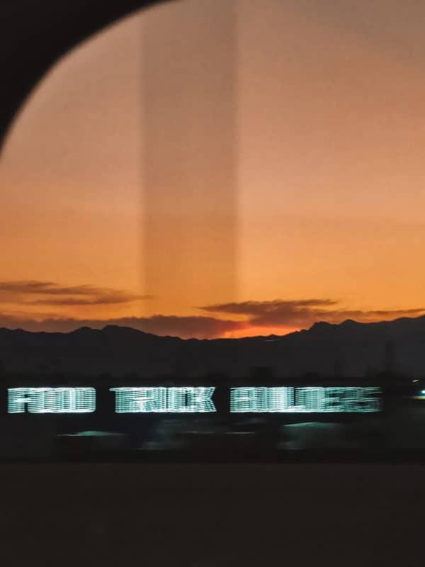prendre la highway Las Vegas