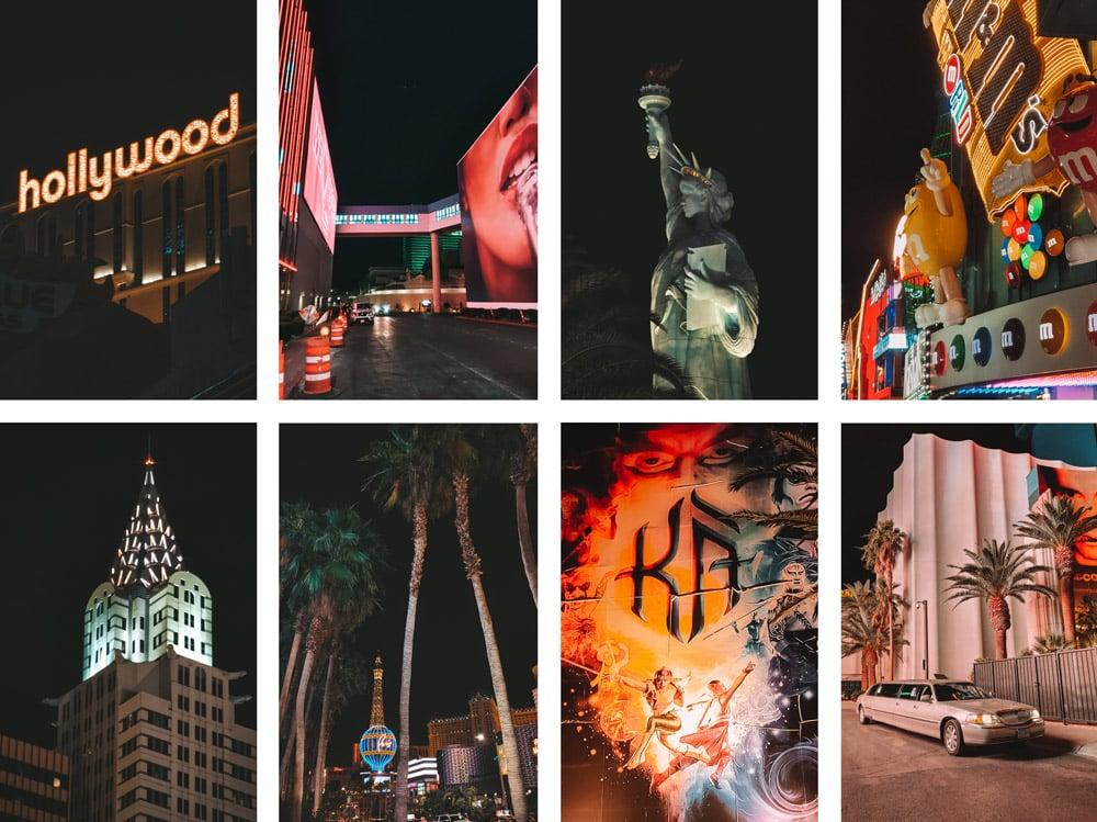 visiter Las Vegas de nuit