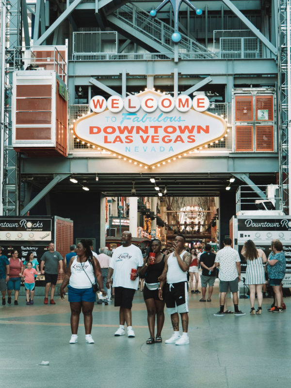 welcome downtown Las Vegas Nevada