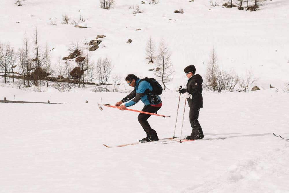 apprendre le ski nordique cours Champsaur