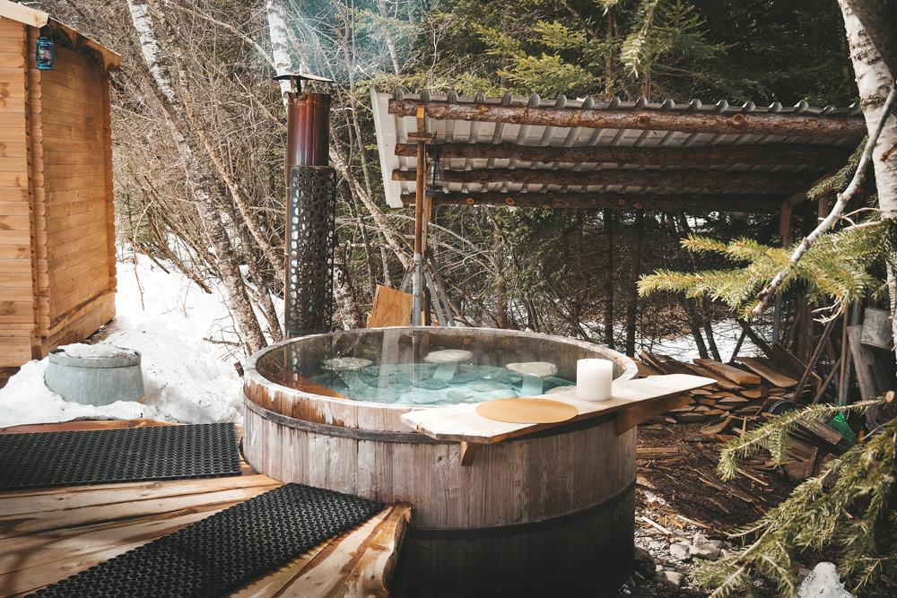 expérience insolite Champsaur bain chaud