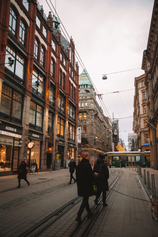 magasins rues piétonnes Helsinki