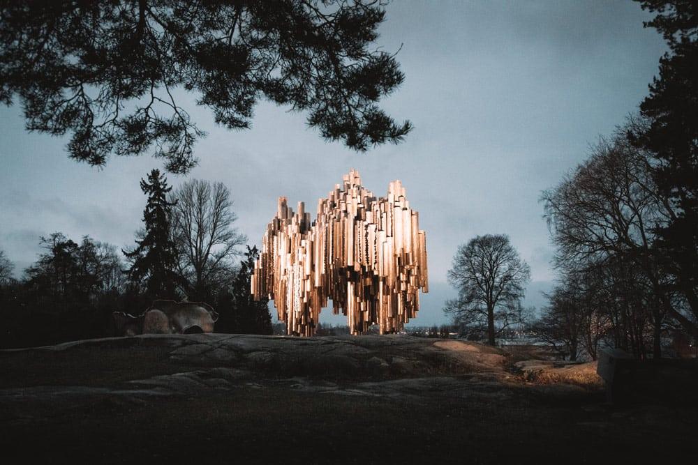 monument Sibelius voyage Helsinki