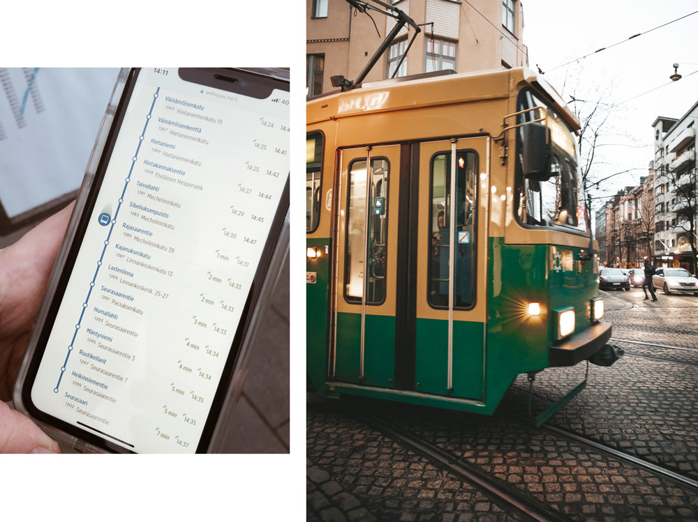 prendre le bus Helsinki Tramway