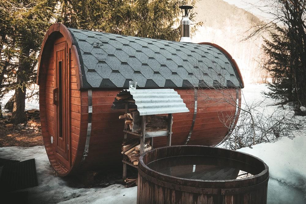 sauna extérieur authentique montagne Champsaur