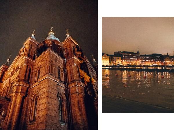 visiter quais Helsinki de nuit