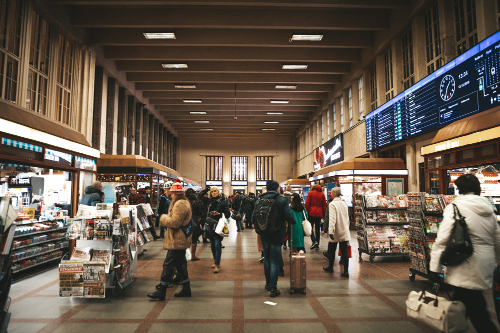 voyager gare Helsinki