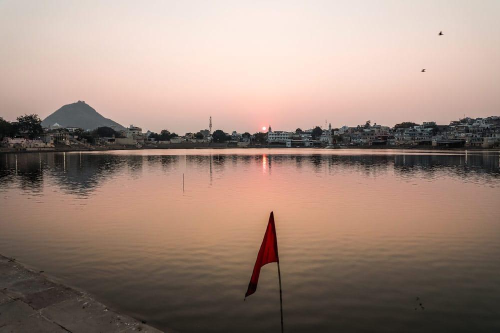 dormir au bord du lac Pushkar voyage Inde