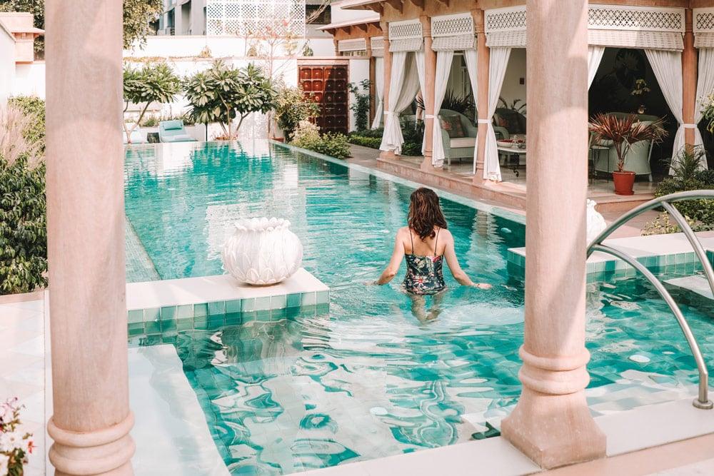 maison hôtes Jaipur avec piscine Samode Haveli