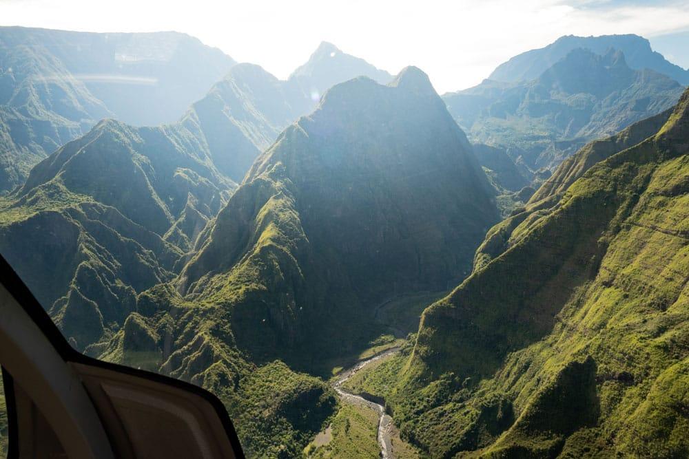 vol hélico Trou de Fer La Réunion