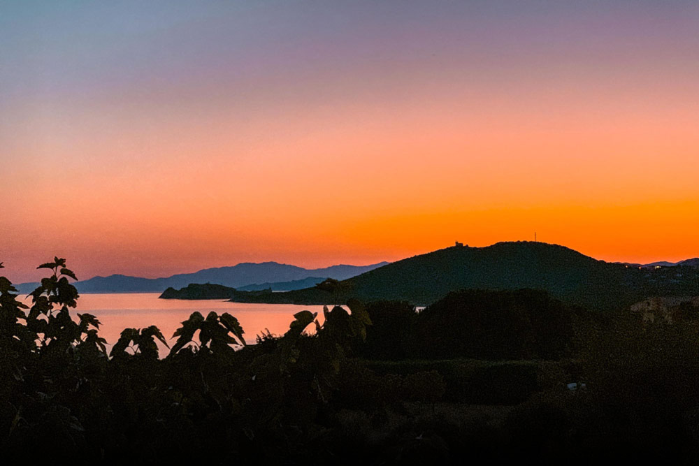 coucher de soleil île rousse Balagne