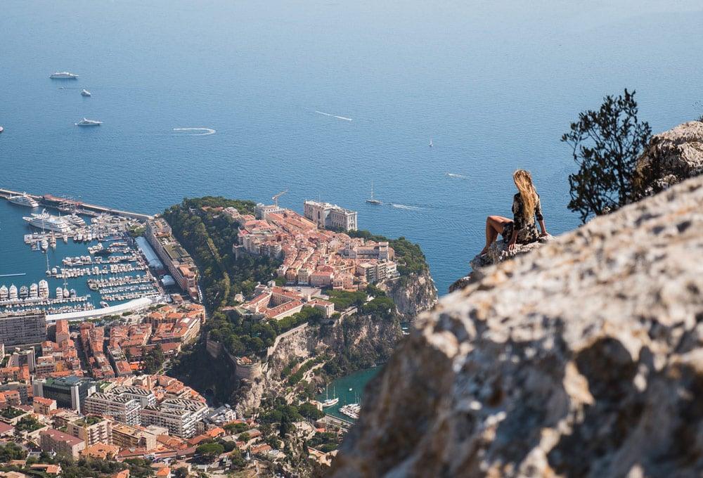 plus beau sud est point de vue Tête de Chien Monaco