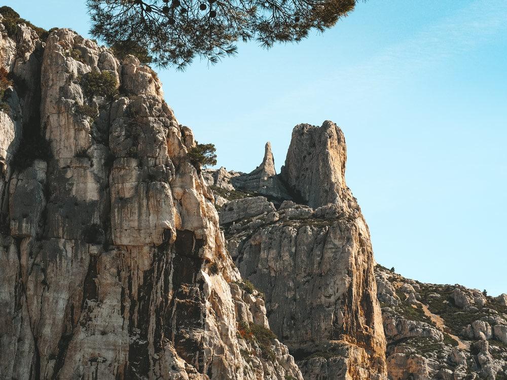 grande Candelle grimpeur accès escalade