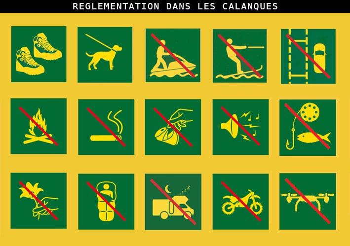 réglementation parc national Calanques Marseille