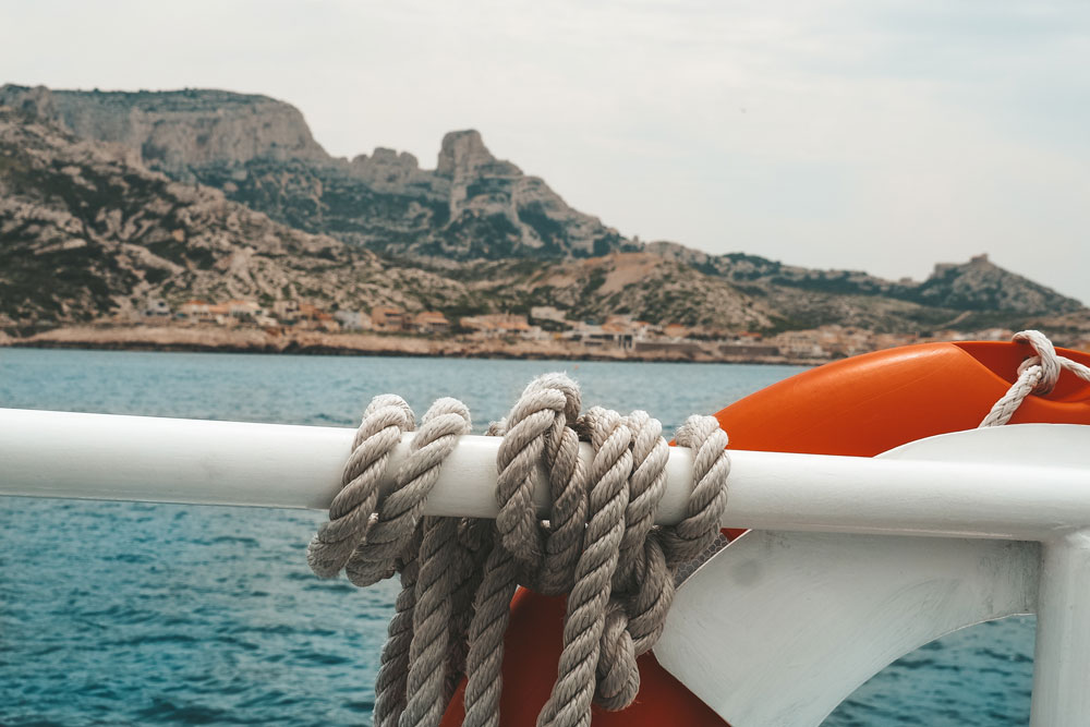 sortie en bateau Calanques Marseille