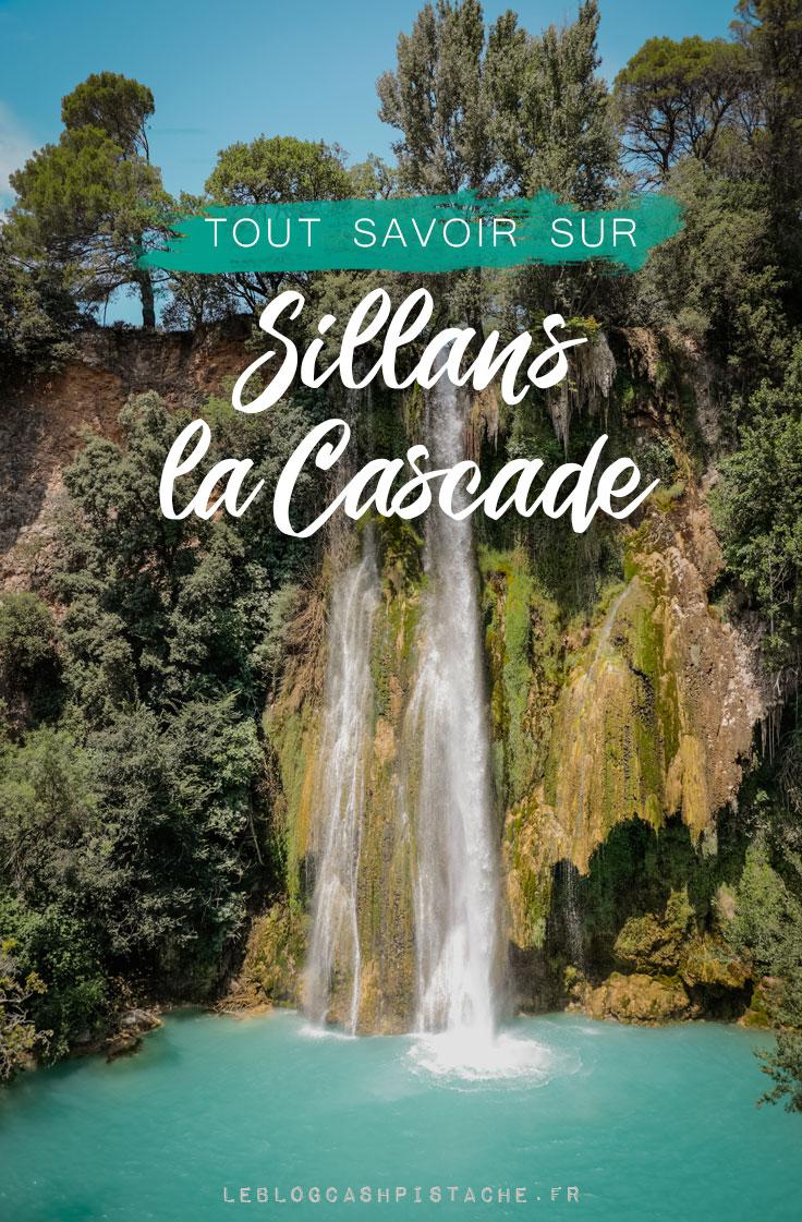 accès rivière et belvédère cascade de Sillans