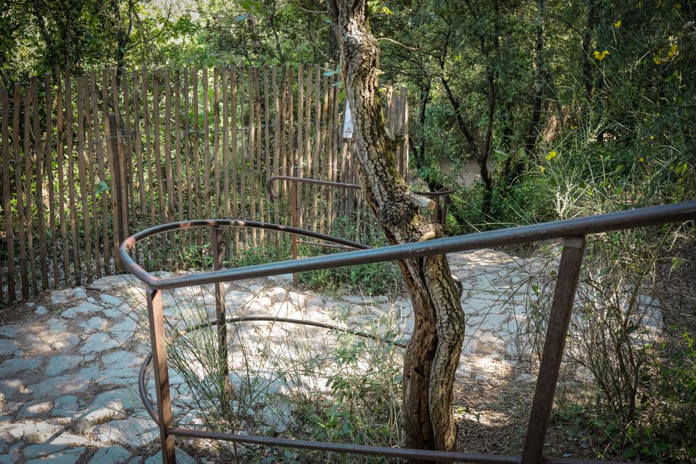 comment voir la cascade de Sillans chemin