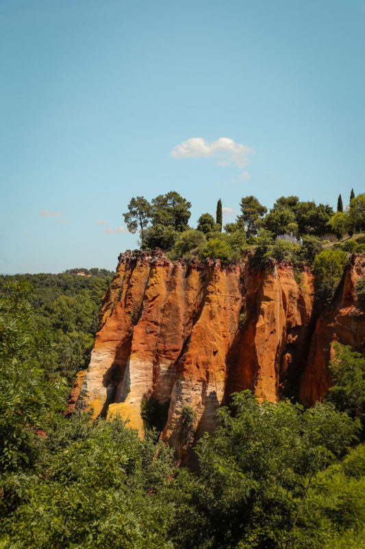 itinéraire sentier des ocres de Roussillon