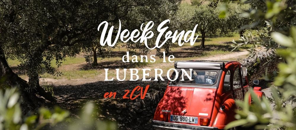 week-end dans le Luberon en 2CV Vaucluse