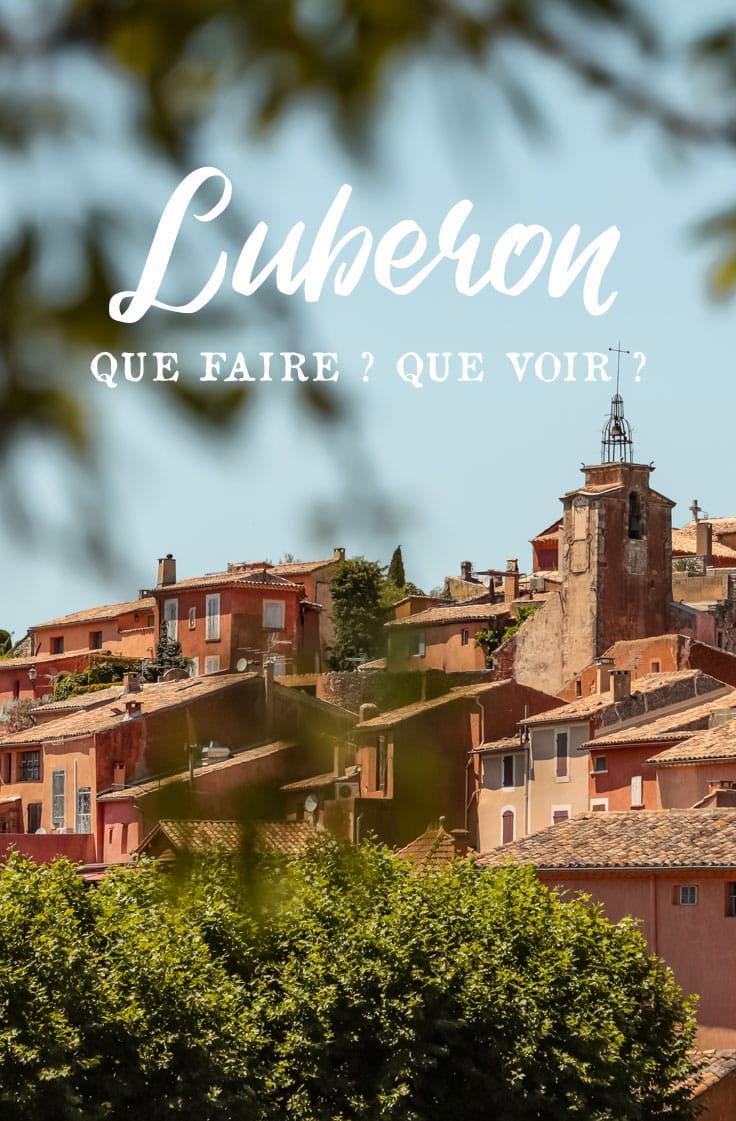 vacances en famille dans le Luberon